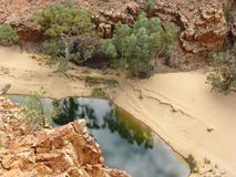 The Finke river in the Ormiston Gorge Royalty Free Stock Photo
