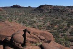 Finke-Schlucht-Nationalpark-Nordterritorium von Australien stockfotos