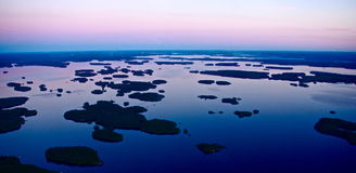 Finland from above Royalty Free Stock Photography