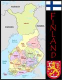 Finland Administrative divisions Stock Image