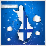 Finland air travel abstract background. Vector illustration Stock Photos