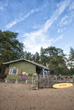 Finland Beach Rescue house Stock Photo