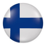 Finland button. 3d rendering of  Finland flag on a button Stock Photos