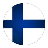 Finland button with flag. Abstract illustration: button with flag from Finland country Royalty Free Stock Image