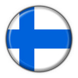 Finland button flag round shape. Finland button flag 3d made Stock Photography