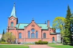 finland Chiesa della città di Jyvaskyla fotografia stock libera da diritti