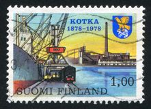 Kotka. FINLAND - CIRCA 1978: stamp printed by Finland, shows Centenary of founding of Kotka, circa 1978 royalty free stock images