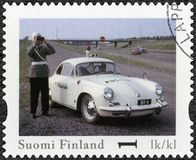 FINLAND - 2013: shows Porsche 356 B, series Finland Official Vintage Police Car Royalty Free Stock Images