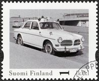 FINLAND - 2013: shows Volvo Amazon Sport, series Finland Official Vintage Police Car Royalty Free Stock Photo