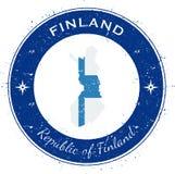 Finland circular patriotic badge. Stock Images