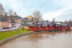 Finland. City Porvoo Royalty Free Stock Photos