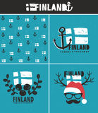 Finland collection of labels. Stock Photography