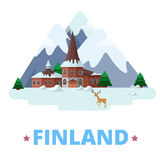 Finland country design template Flat cartoon style. Finland country magnet design template. Flat cartoon style historic sight showplace web site vector Royalty Free Stock Images