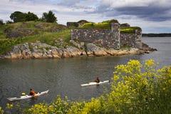 Finland: De dag van de zomer in Helsinki Stock Foto's