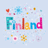 Finland. Decorative type lettering design Stock Photos