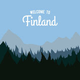 Finland design. Finland graphic design , vector illustration Royalty Free Stock Photography