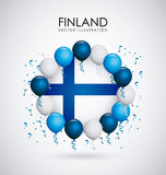 Finland design. Over gray background, vector illustration Royalty Free Stock Image