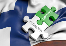 Finland economy and financial market growth concept. 3D rendered concept for Finland`s economy and financial market growth Stock Images