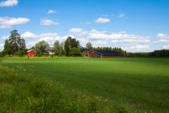 Finland farm Stock Photo