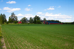 Finland farm Royalty Free Stock Images