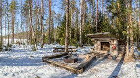 Finland Fireplace Royalty Free Stock Photography