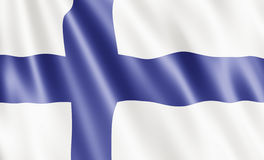 Finland Flag. Blowing In Wind Stock Image