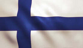Finland Flag. Background with fabric texture royalty free stock photos