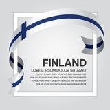 Finland flag background. Finland ribbon flag on background creative template. Simple work and adjusted to suit your needs Royalty Free Stock Photography