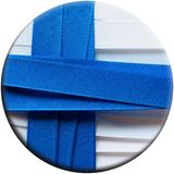 Finland flag or banner. Made with white and red ribbons Royalty Free Stock Photo