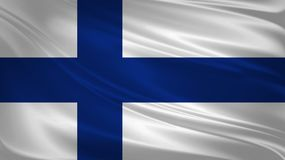 Finland flag blowing in the wind. Background texture. 3d rendering, wave. Icon Royalty Free Stock Image