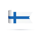 Finland flag. A blue and white Finland flag Stock Image