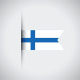 Finland flag. A blue and white Finland flag Royalty Free Stock Images