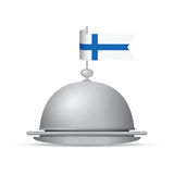 Finland flag dinner platter. A Finland flag dinner platter Stock Images