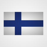 Finland flag on a gray background. Vector illustration Stock Image