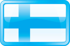 Finland Flag Icon. Finland Flag. Glass Style. Vector available Royalty Free Stock Photo