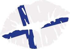 Finland flag kiss vector. Finland flag kiss country vector Stock Image