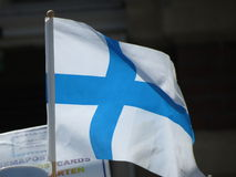Finland flag Stock Photography
