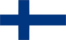 Finland flag. And language icon - isolated vector illustration Stock Images