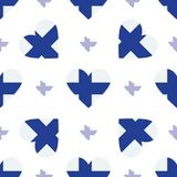 Finland flag patriotic seamless pattern. Royalty Free Stock Image