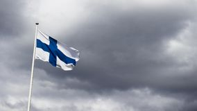 Finland Flag Photography royalty free stock photo