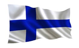 Finland flag.  A series of `Flags of the world.`   The country - Finland flag. Finland flag.   A series of `Flags of the world.`  The country - Finland flag Royalty Free Stock Images
