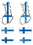 Finland flag set Royalty Free Stock Photo