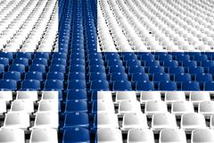 Finland flag stadium seats. Sports competition concept. Finland flag stadium seats. Sports competition concept royalty free stock image