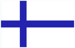 Finland flag. Vector file of Finland flag Royalty Free Stock Image