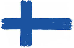 Finland Flag Vector Hand Painted with Rounded Brush. This image is a illustration and can be scaled to any size without loss of resolution Royalty Free Stock Photo