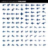 Finland flag, vector illustration. On a white background. Big set Stock Photography