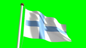 Finland flag stock video