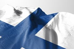 Finland Flag waving, 3D Realistic Finland Flag Rendered. Image Stock Image
