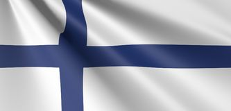 Finland flag waving. Flag of finland wave Royalty Free Stock Images