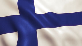 Finland Flag Waving - Germany Background Royalty Free Stock Images
